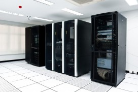 Monitoring of temperature and power in server rooms